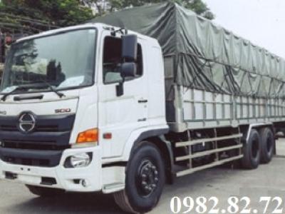 Giá xe tải hino 3 chân 15 tấn mui bạt FL8JT7A thùng dài 7,8m