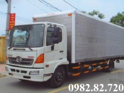 Giá xe tải hino FC9JNTC 6,4 tấn thùng kín dài 7,2m