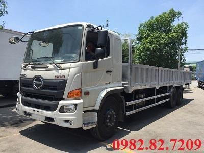 Giá xe tải hino 3 chân 15 tấn thùng lửng dài 7,6m
