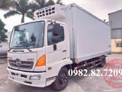 Giá xe tải hino 5 tấn đông lạnh thùng dài 6,5m