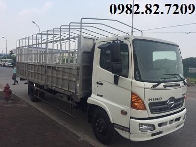 Giá xe tải hino 6,4 tấn thùng bạt dài 6,8m FC9JLTC