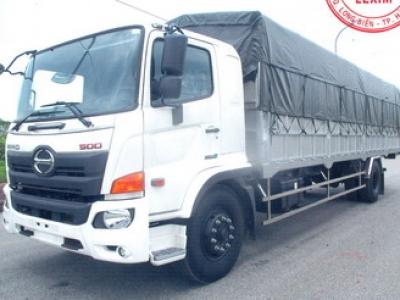 Giá xe tải hino 8 tấn thùng mui bạt dài 8,9m