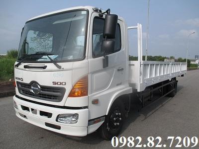 Giá xe tải hino 6,4 tấn thùng lửng dài 7,3m