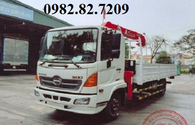 Giá xe tải hino 6 tấn FC9JLTC gắn cẩu unic 3 tấn 4 đốt