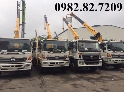 Giá xe tải hino 8 tấn Gắn cẩu Soosan 5 tấn 5 đốt